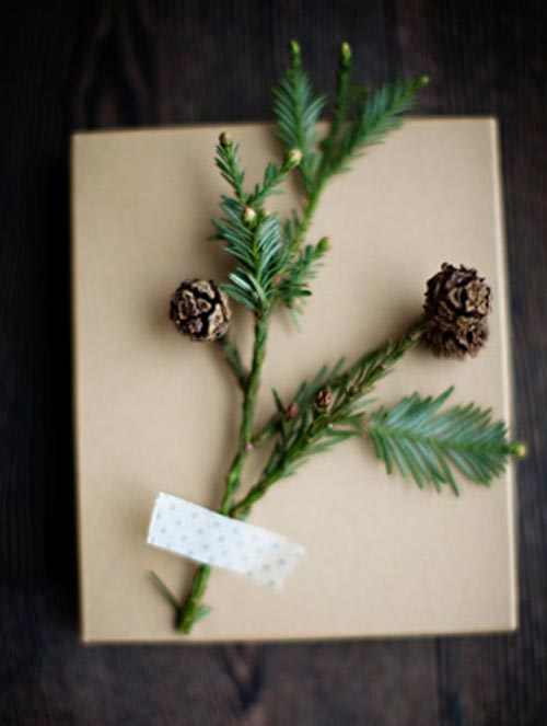 decoracion regalo rama pino
