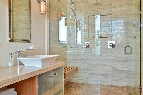 ducha baño habitacion principal casa madera