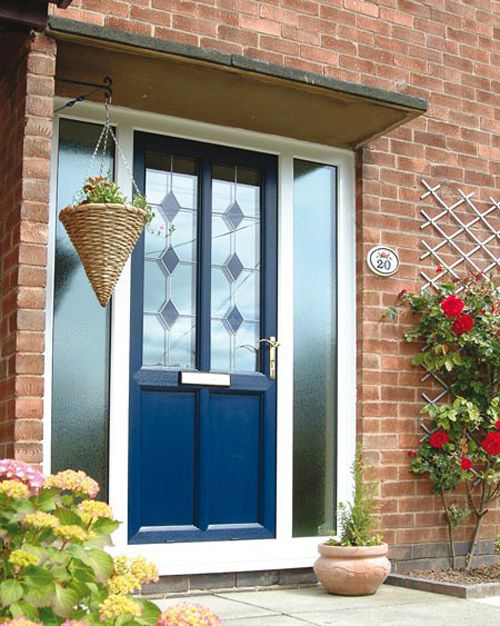 puerta azul cristal shelterness.com