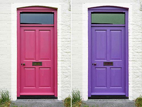 puertas rosa morada cocomale.com