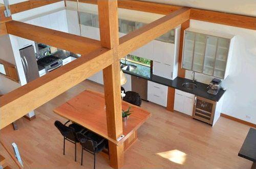 planta principal vista arriba casa madera