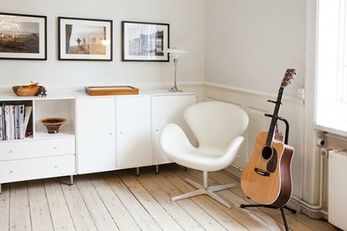 Dormitorio de diseño escandinavo.