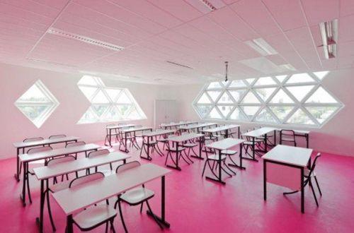 iluminacion aula lycee georges freche kawneer decollagedesign.com