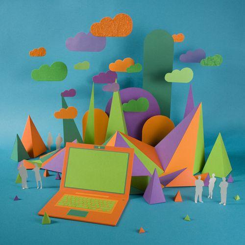 inside the cloud nubes bosque papel zim and zou