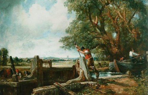 museo thyssen-bornemisza La esclusa, de John Constable.