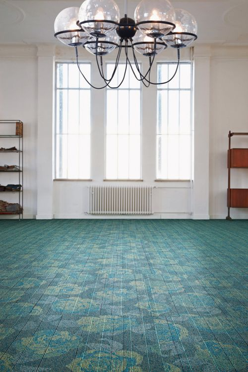 alfombra verde de diseño