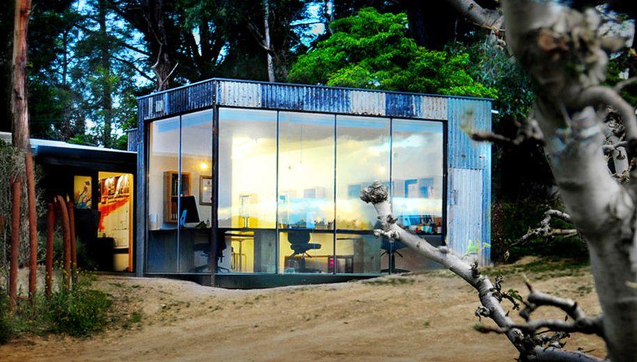 Oficina prefabricada, un refugio original muy productivo