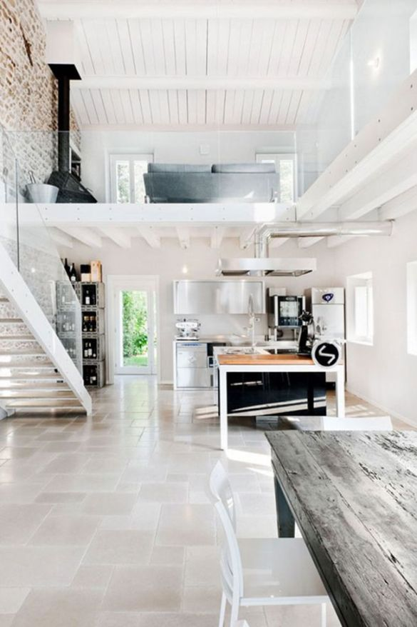 loft dos pisos cocina estancia