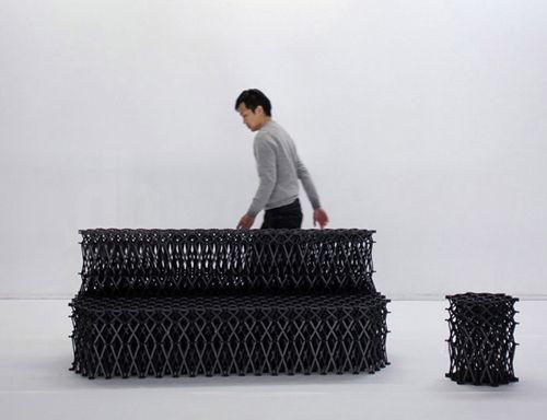 Muebles transformables «XXXX_» de Yuya Ushida
