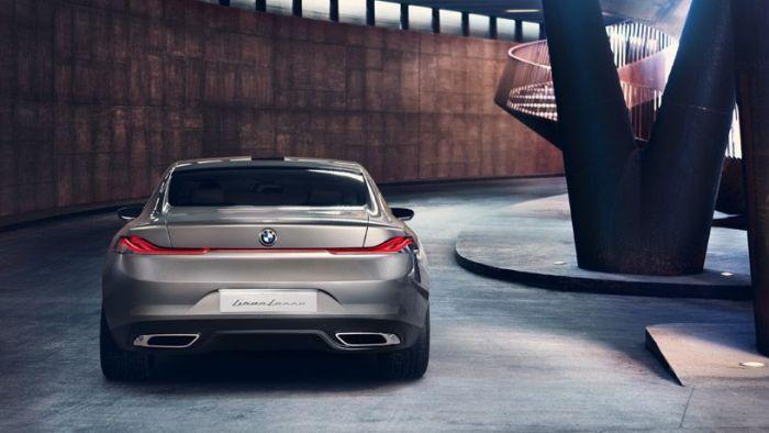 trasera BMW lujo berlina
