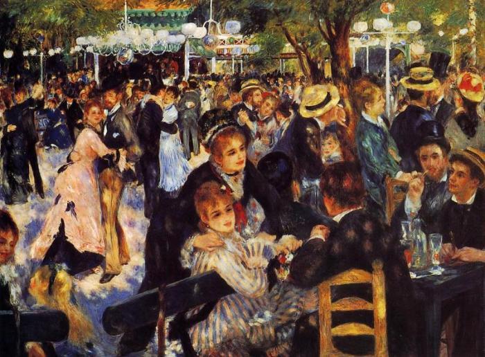 fiesta cuadro impresionista renoir