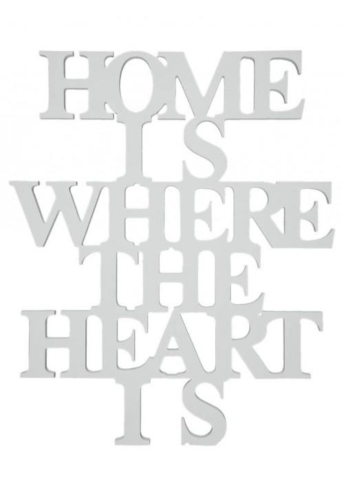 letras de madera con frase hogar