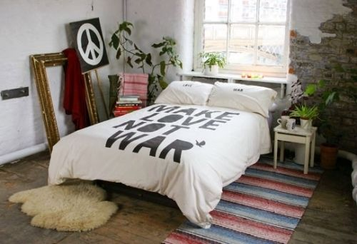 Cuarto hippie en color blanco.