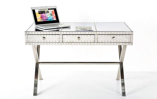 Mesa escritorio industrial de aluminio