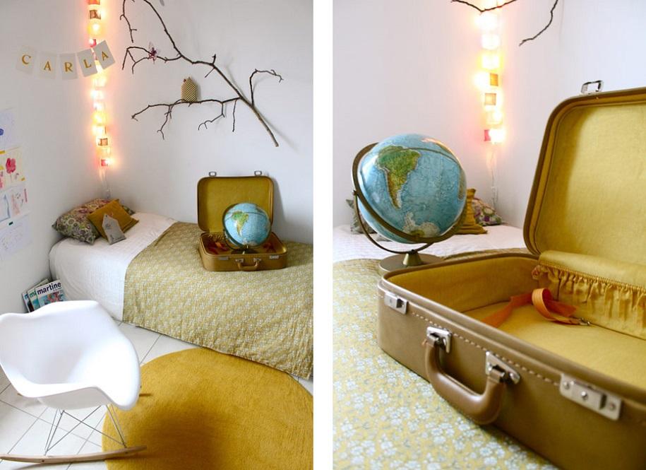 Decoración con maletas antiguas