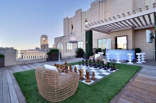 terrazas tablero ajedrez