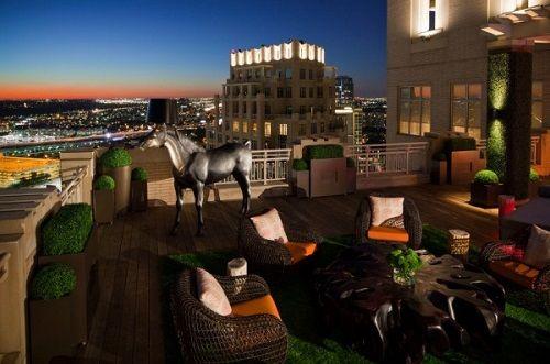 terrazas de verano atico escultura caballo