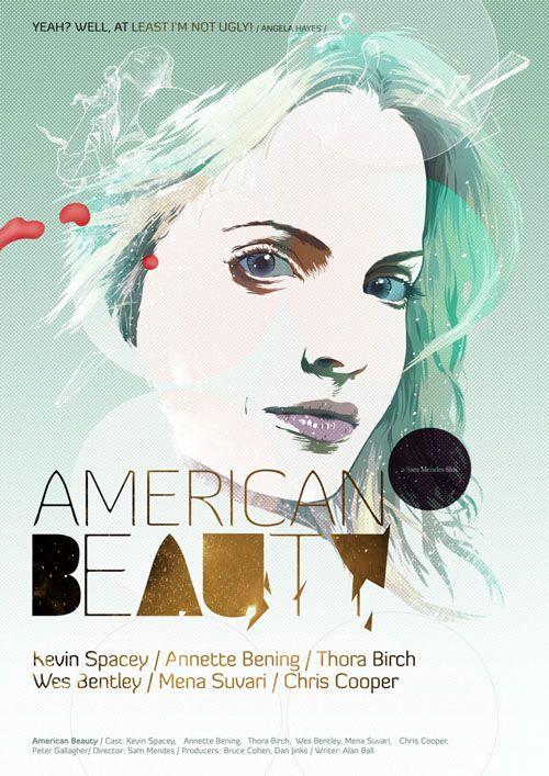 american beauty poster pelicula ilustracion