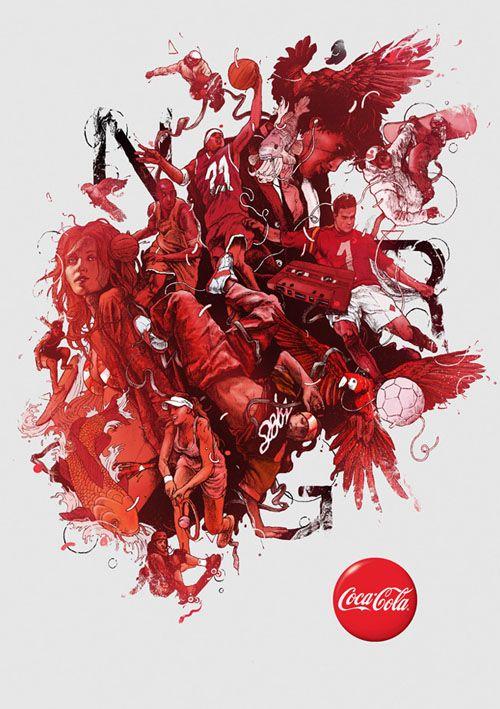 dibujo ilustracion anuncio coca cola gabz