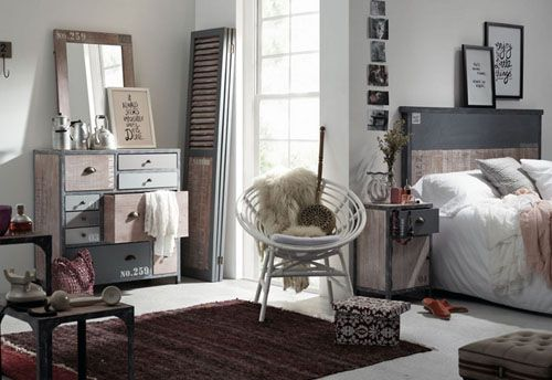 Dormitorio industrial Vintage Erutna II en Portobellostreet normal