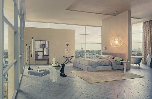 Dormitorio parisino de Bruno Tarsia