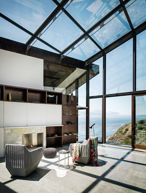 Hogar con techos acristalados