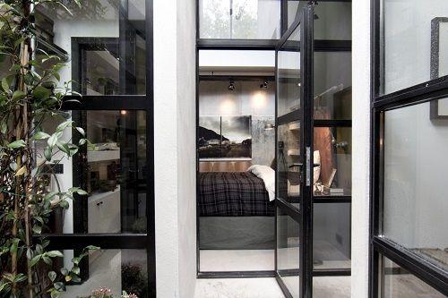Invernadero con acceso al dormitorio
