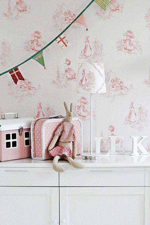 Papel toile the jouy en rosa