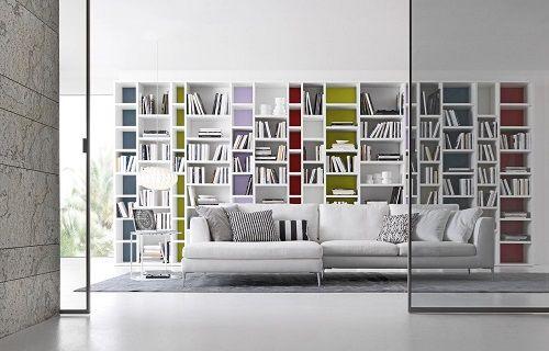 Bibliotecas en casa-moderna- sala lectura