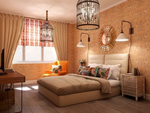 dormitorio con toques estilo french country