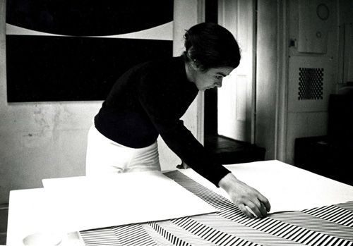 Bridget Riley in her Studio, 1960's