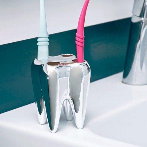 diente para guardar cepillos de dientes