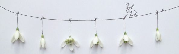 tendedero con flores