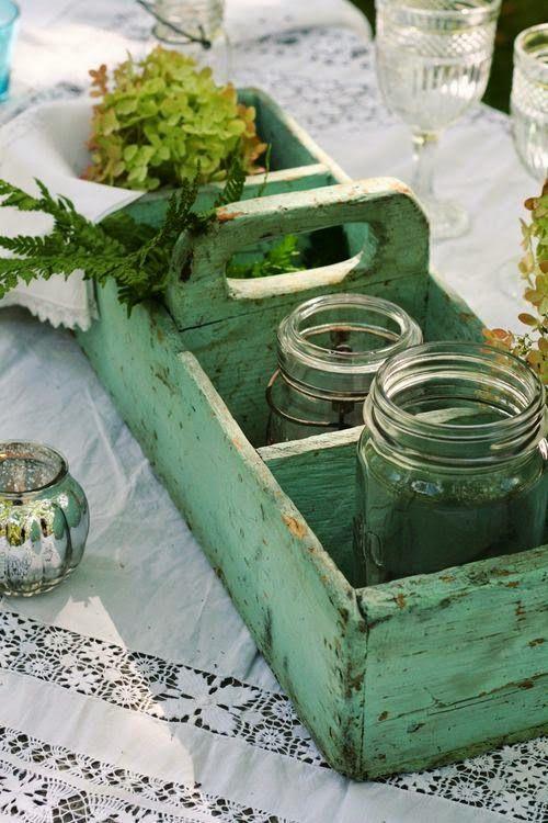 chalk paint pintura madera caja vintage verde pastel annie sloan decoracion bricolaje diy