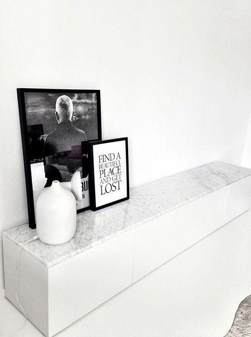 encimera comoda marmol blanco gris tendencia decoracion interiorismo