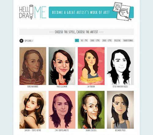 hellodrawme portal web ilustracion retrato