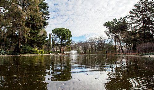 lago parque quinta de los molinos madrid