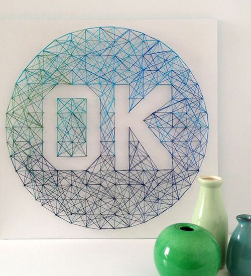 nail string art decoracion ideas diy corden clavos