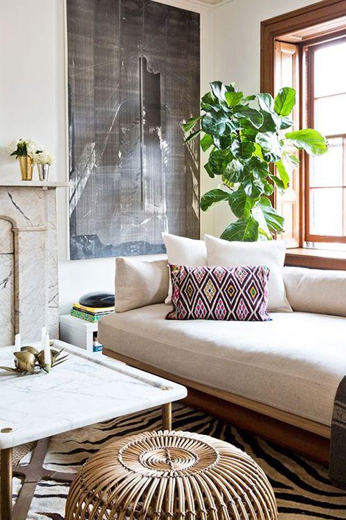 planta grande esquina ventana ideas decoracion tendencias plantas verdes interiores