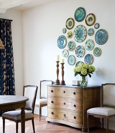 platos ceramica pared ideas decoracio interior