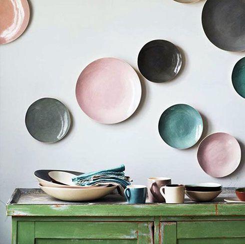 platos colores solidos ideas decoracion paredes