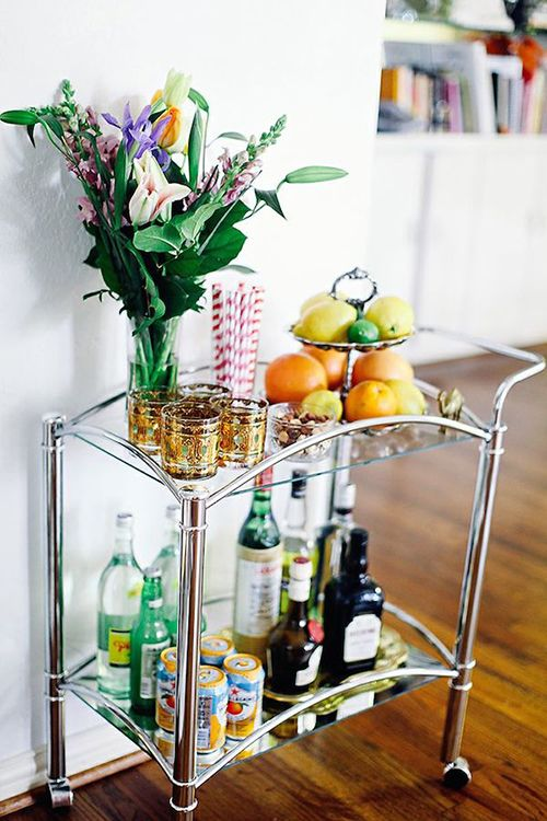 camarera bebidas carrito auxiliar ideas almacenaje hogar