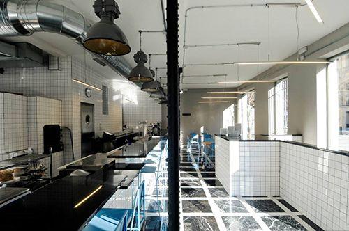 interior estilo industrial local picsa pizzeria argentina madrid