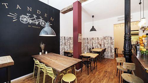 tandem interior local madrid barrio de las letras bar restaurante triciclo
