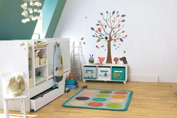 habitacion infantil decoracion niños vinilos colores juguetes