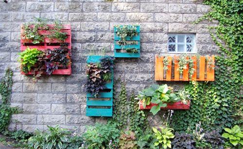 jardin vertical palets reciclaje cultivo ecologico huertos urbanos
