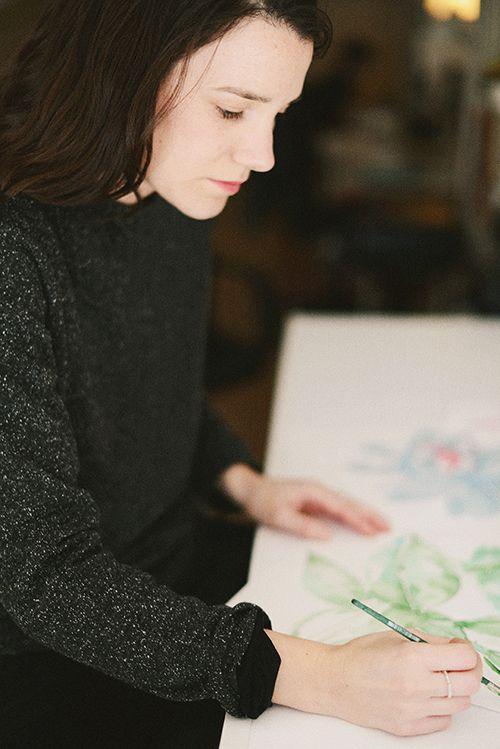 lara costafreda ilustradora moda barcelona papel pintado coordonne