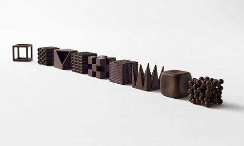 chocolate texture maison objet oki santo nendo design