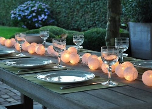 luces decorativas bolas mesa