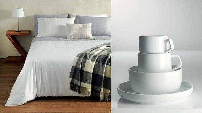 collage cama y tazas